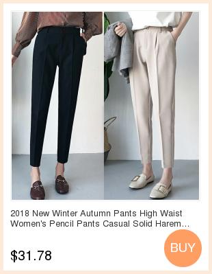 19 Autumn New Women Elastic Woolen Pant Female Plus Size Casual Trousers Black/Gray Harem Pants Winter Wool Ankle-Length Pants 2