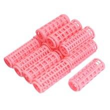 JEYL Hot New 12 Unids Rosa Clips de Plástico DIY Rizadores de Estilismo Roller