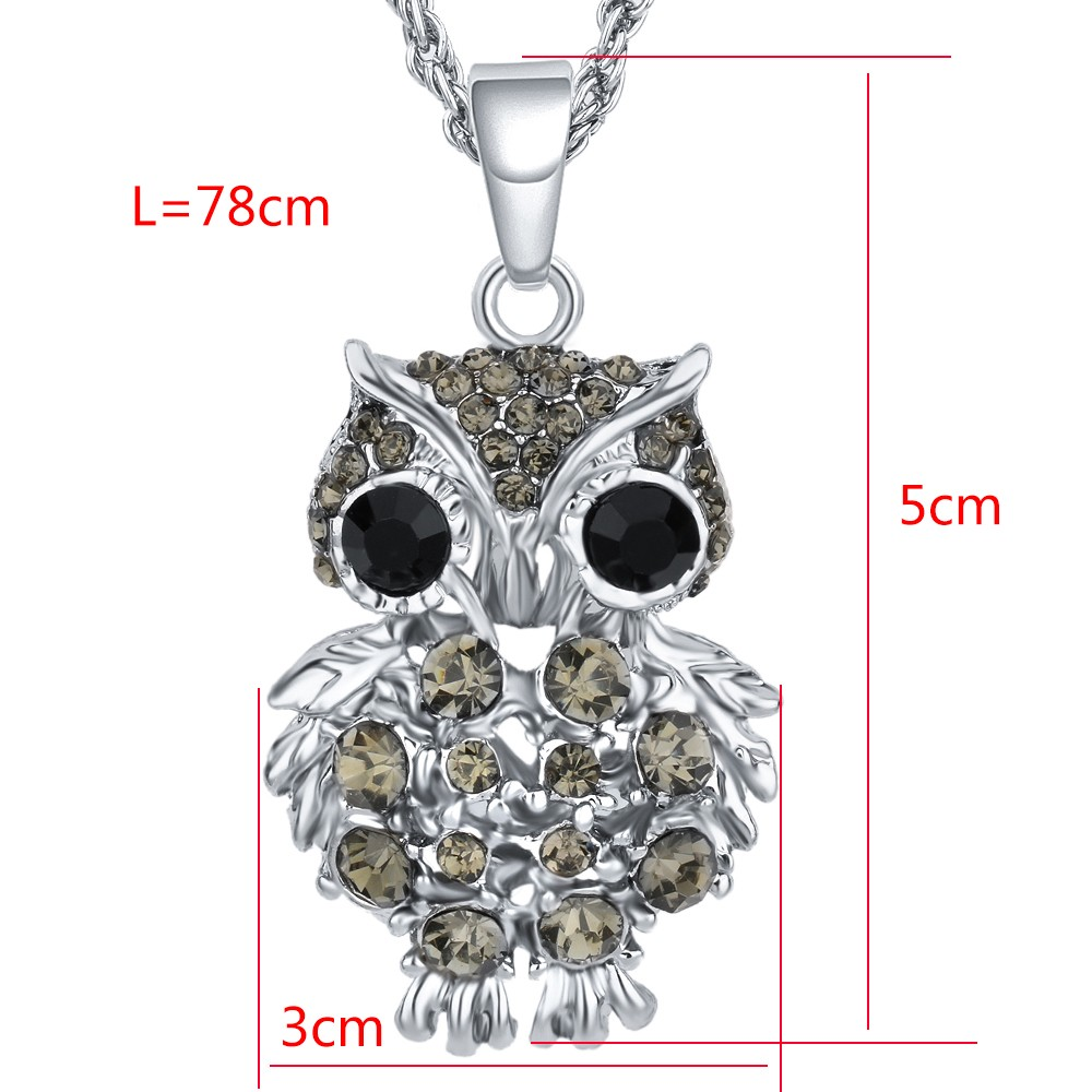 Gold Color Owl Necklaces