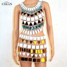 Chran Sonus Festival Outfit Crop Top Chain Bra Harness Necklace Body  Lingerie Metallic Bikini Skirt Beach Party Jewelry CRM803 8874b64178ae