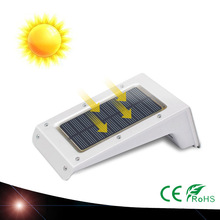 4x solar power leds outdoor waterproof garden pathway stairs lamp light energy saving led solar wall lamp white