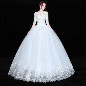 Image 3 - Düğün elbisesi Gelin Artı boyutu Dantel düğün elbisesi es Yeni Balo Elbise Prenses