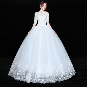 Image 3 - Wedding Dress Bride Plus size Lace Up Wedding Dresses New Ball Grown Dress Princess