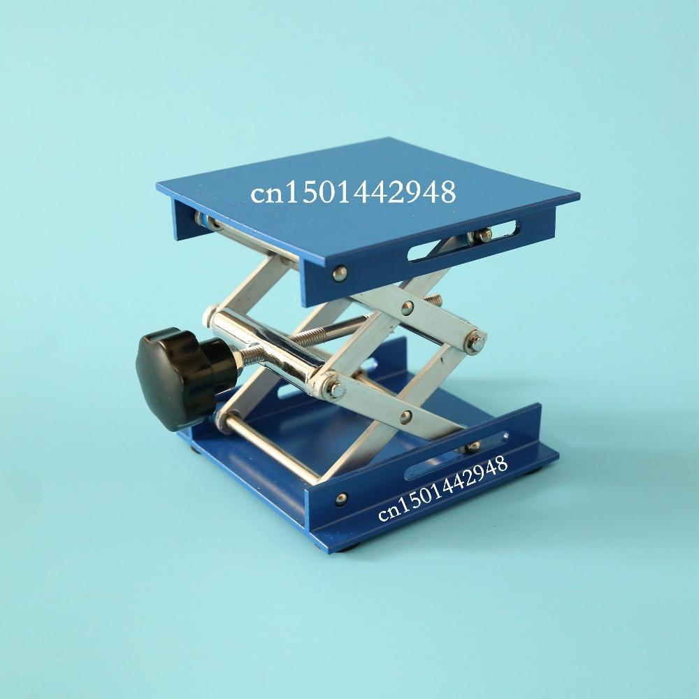 Lab Jack Aluminum Lab Support Jacks 100x100x150mm Lifting Table Raising Platform 4'' inch