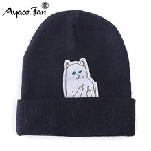 Cat Knit Cap 2019 New Beanies Winter Hats for Women Men Knitted Caps Cut Cartoon