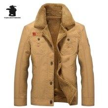 2016 winter neue männer verdicken fleece jacke hohe qualtiy mode armee stil plus größen-beiläufige jacke mantel für männer M ~ 5XL DB1F1818