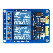 20PCS 2Channle Relay Module Relay Expansion Board 24V Low Level Triggered 2Way Relay Module for Arduino