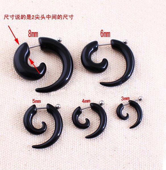 Sinnvoll 2 Teile/los Gefälschte Spirale Gauge Ohr Verjüngt Schnecke Expander Edelstahl Helix Piercing Faux Ohr Stecker Tunnel Bahre Körper Schmuck Schuhe