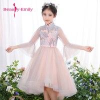 Słodkie flower girl dress aplikacje frezowanie-line suknia sukienka dla księżniczki dziewczyna sukienki piano play sukienka wstążka pas pociąg