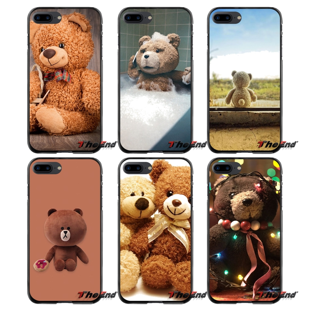 For Apple iPhone 4 4S 5 5S 5C SE 6 6S 7 8 Plus X iPod Touch 4 5 6 Accessories Phone Shell Covers cute Teddy Bear