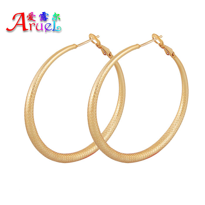 Free shipping fashion basket femme large hoop earring basketball wives luxury real brincos gold color big earrings for women