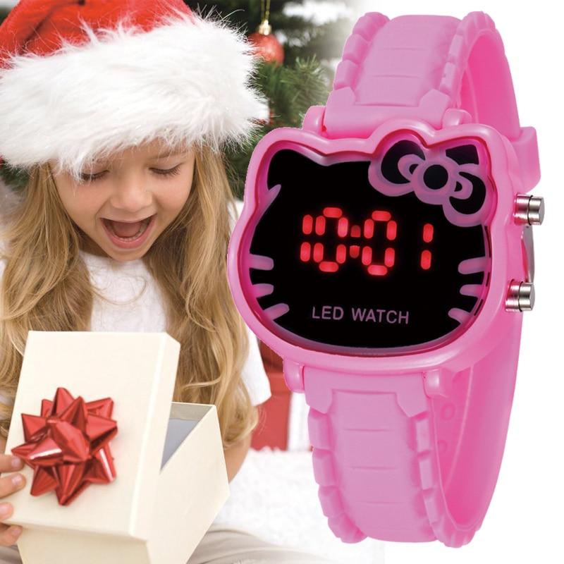 Pink Girl Holiday Watch Cute Cartoon Enfants Fashion Kid Clock Fashion Wrist Relogio Led Children Watches Clocks