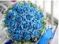 H007 Hecha A Mano Elegante de La Boda Ramo 22 Rosas Flores de La Boda Ramo de la dama de Honor Ramo de Novia Decoración de La Boda Barato Nueva