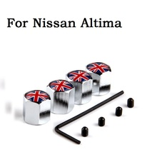Free shipping Anti-theft Lock Wheel Tire Tyre Valve Cap Air Dust Covers For Nissan Altima Car Accessories