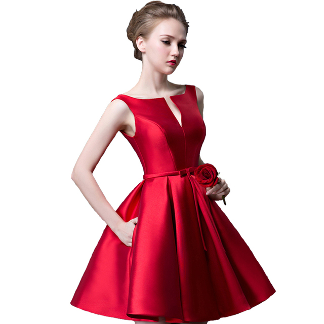 Cocktail Dress - Biking Red - 14 Colors 1