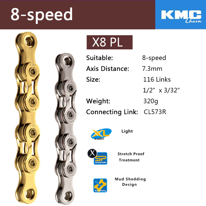 "KMC MISSING LINK 6 7 AND 8 SPEED 1//2/"" X 3//32/"" BIKE 7.3MM CHAIN LINKS--CARD OF 6"