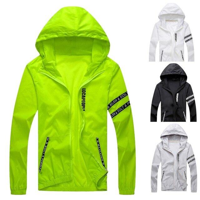 men clothes 2018 Mens Casual Jacket Outdoor Sportswear Windbreaker Lightweight Bomber Jackets winter coat men Free Shipping