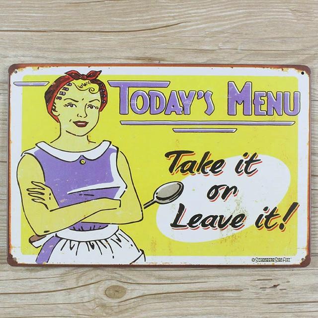 Retro decor Metal painting Tin wall art sticker Vintage plaques ...