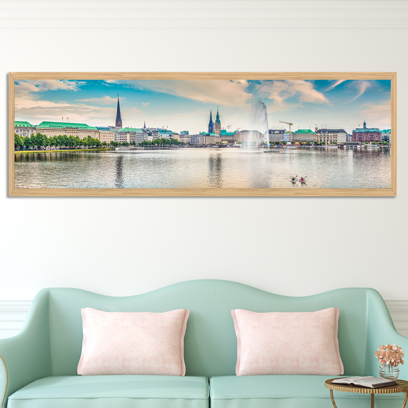 No Frame City Scenery Painting Painting Wall Decoration Poster For For Hotal Living Room