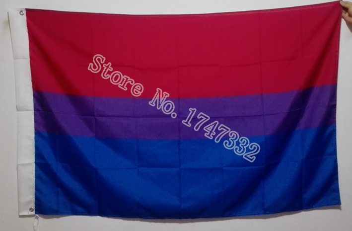 <font><b>Bisexual</b></font> <font><b>Pride</b></font> <font><b>Flag</b></font> hot sell goods 3X5FT 150X90CM Banner brass metal holes image