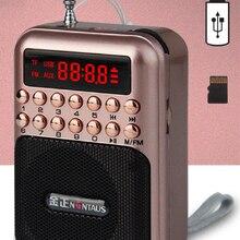 Карманное радио FM радио мини портативный Перезаряжаемый радио приемник динамик поддержка USB TF карта музыкальный MP3 плеер