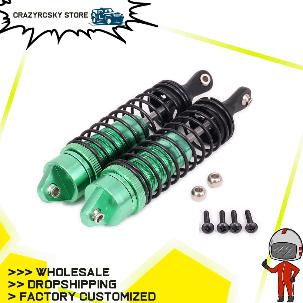 RCAWD Rear Shock Absorber For Car 110mm Alloy Aluminum Oil Filled Hobby Model Car 1/10 Traxxas Slash 5807 Stampede Upgraded Part