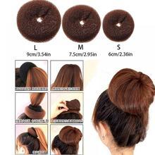 Shaper Hair-Doughnut Styling-Tools Korean-Hairstyle Fashion Ring Women Brown Bun