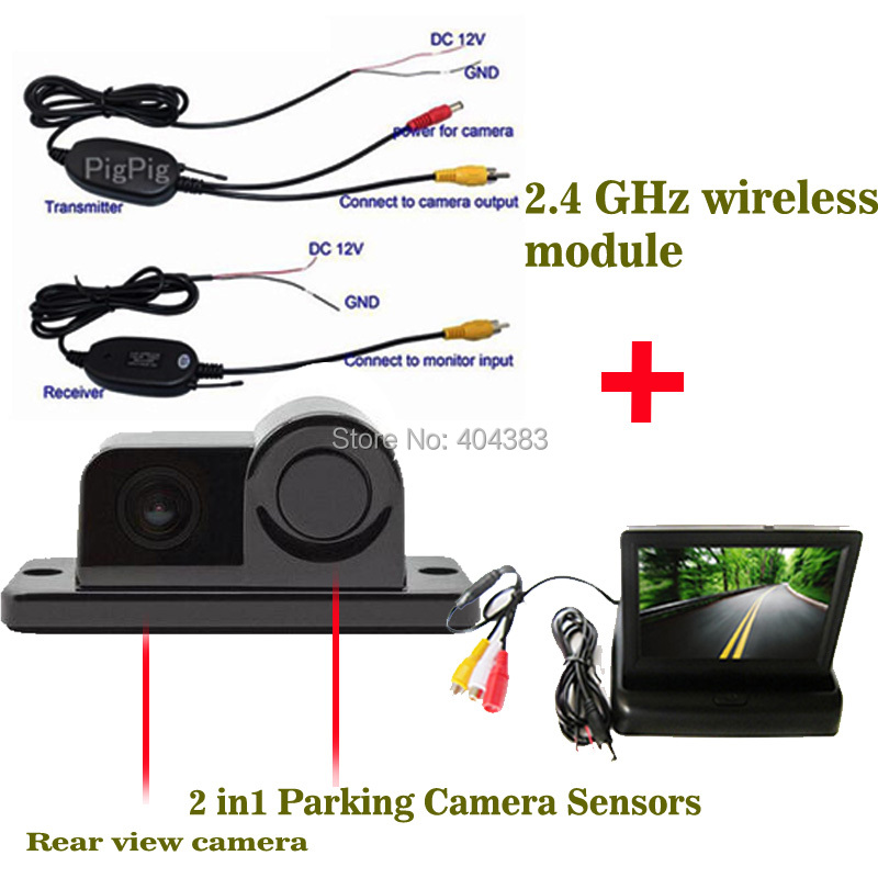 Wireless Sensor Backup Radar With Rear View Camera 4 3