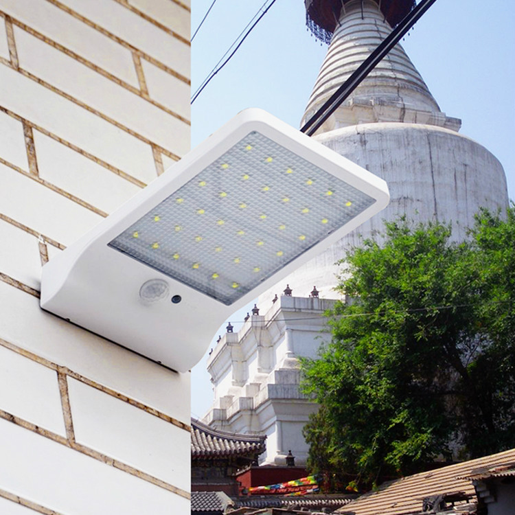 20pcs Waterproof Led Light Solar Powered Outdoor Garden Path Wall Lamp Emergency Lighting 36 Leds 3 Modes Light & Motion Sensor