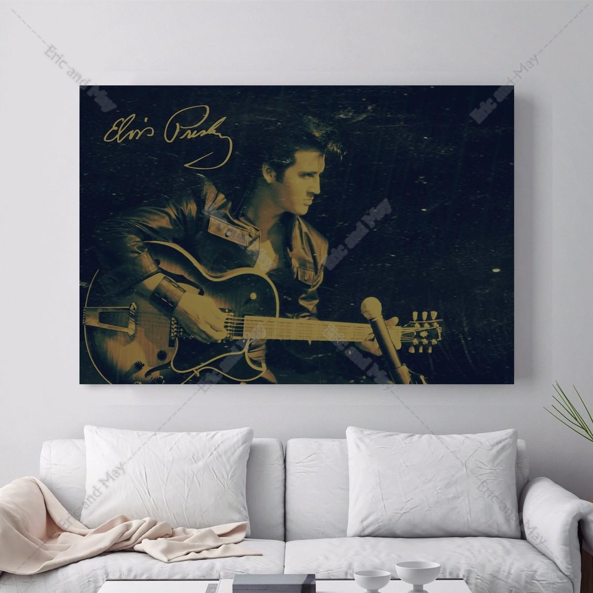 Elvis Gitarre Musik Vintage Leinwand Kunstdruck Malerei Poster Wand Bild Fr Wohnzimmer Home Dekorative Schlafzimmer Decor