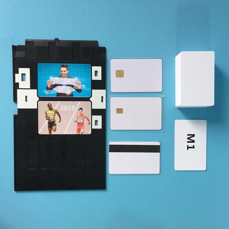 잉크젯 PVC ID 카드 트레이 Epson P50 T60 용 R90 R330 R390, R330 L800 L801 L805 Px700w, Px800FW, Px665, px660 용 플라스틱 카드 트레이
