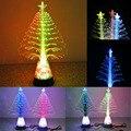 New Design Plastic Optical Fiber Christmas Tree Light-up Toys Random Color Flashing Sleep Night Best Gift for Kids