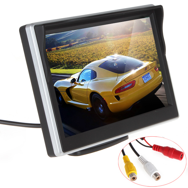 5 TFT LCD Display Rear View Reverse Parking Car Monitor Support 2 Way Video Input For Rear view Camera VCD / DVD Or GPS5 TFT LCD Display Rear View Reverse Parking Car Monitor Support 2 Way Video Input For Rear view Camera VCD / DVD Or GPS