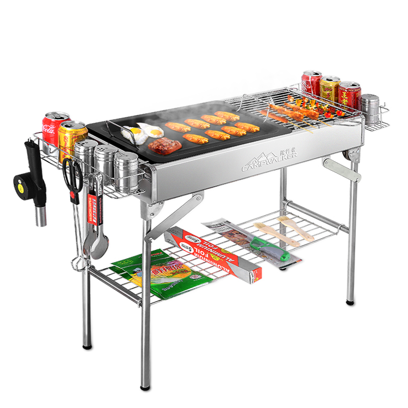 Outdoor folding portable large stainless steel barbecue - Portable dishwasher stainless steel exterior ...