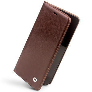 Image 4 - Qialino Real Genuine Leather Case for For Xiaomi 6 Mi6 Mi 6 case for Xiaomi Mi6 Flip Cover Wallet Card Slot Phone Bag