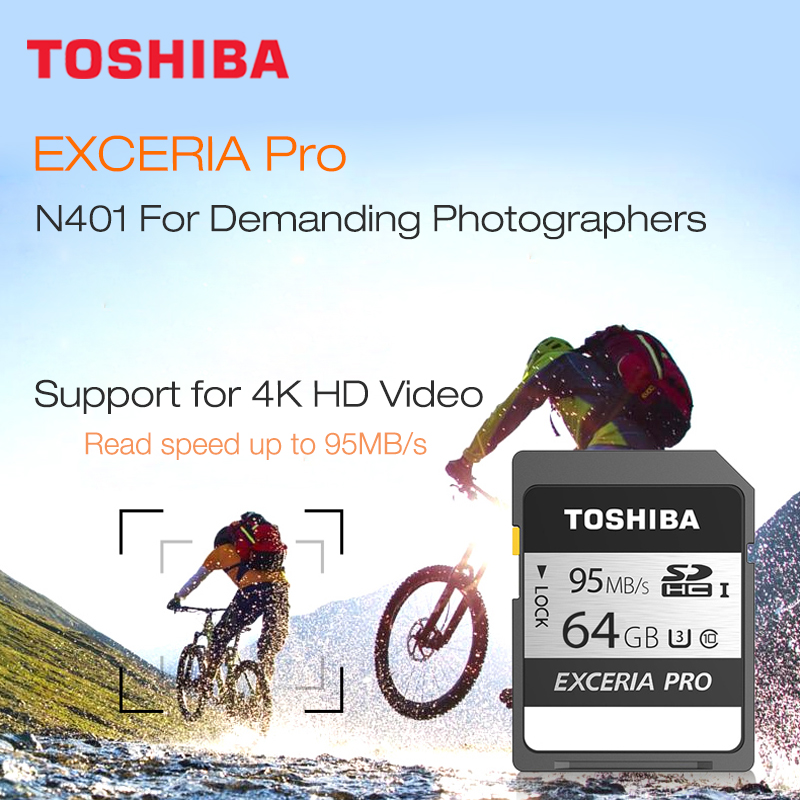 Image 5 - Toshiba Exceria Pro N401 sd card 32gb 128gb SDHC/SDXC read speed up to 95MB/s memory card 64 gb 10 class UHS I for  DSLR camera-in Memory Cards from Computer & Office