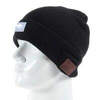 Drahtlose Bluetooth Kopfhörer Hut Gestrickte Warme Beanie mit 5-LED Mic Licht Bluetooth Headset Kopfhörer für handy etc.-Schwarz