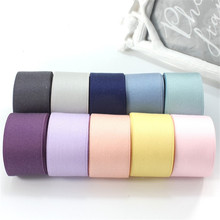 Kewgarden Handmade Tape 1-1/2 38mm Thick Soft Cotton Fabric Satin Ribbon DIY Bow-tie Brooch Ribbons Double Face Riband  8 Meter kewgarden handmade tape 1 1 2 38mm thick soft cotton fabric satin ribbon diy bow tie brooch ribbons double face riband 8 meter