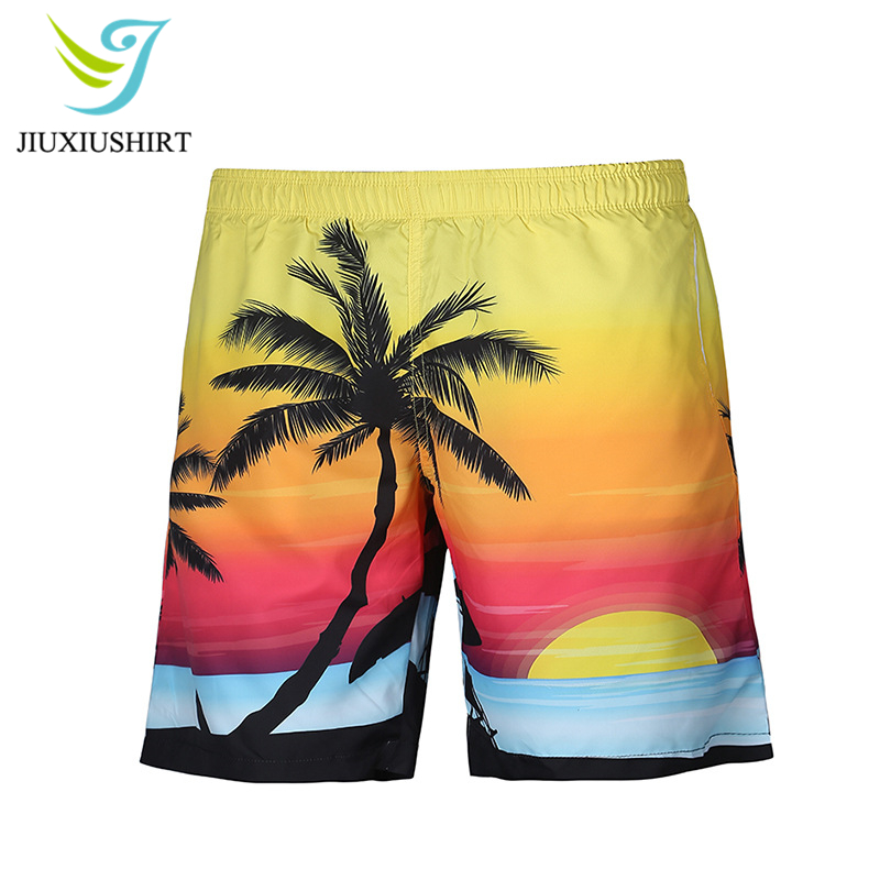 Summer Men Beach   Shorts     Board     Shorts   Printed Beachwear Running   Shorts   Swimwear Swimsuit Swim Trunks Quick Dry Swimming   Shorts