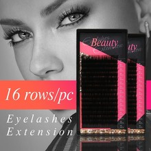 klacuva 0.10 16 rows russian volume eyelashes hybridlashes individual for extensions make up lash extension supplies