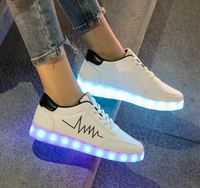 Korean Version The Ghost Step Shoes For Men and Women Shoes USB Charging Light Shoes Flashing Waterproof Luminous LED Lights