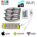 15M SMD5050 Strip RGB led light Wi-Fi Controller  Flexible Wifi LED Strip Light dc 12V 78w poweer supply for home decoration