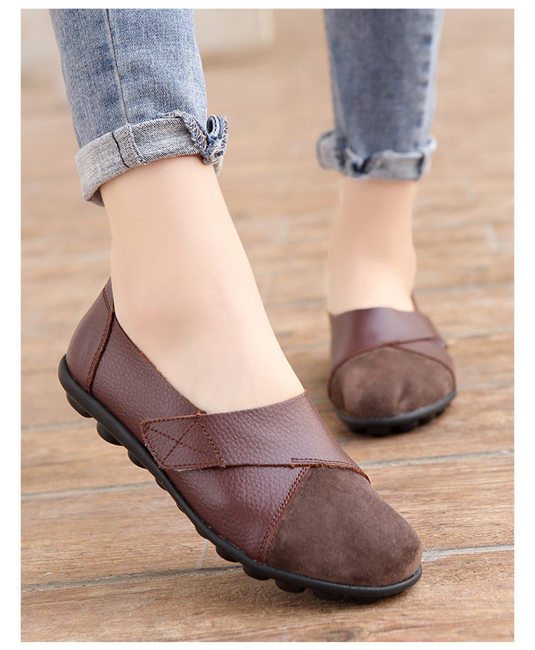 AH 1987-2019 Spring Autumn Women's Shoes Genuine Leather Woman Loafers-22