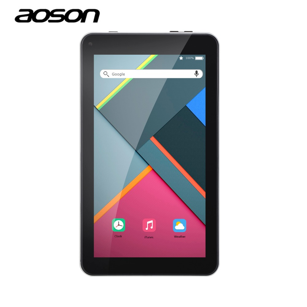 New 7 inch Tablets PC Aoson M751 1G 8G Android 5.1 PCs Tablets Quad Core IPS Screen 1024*600 Bluetooth Dual Cameras OTG FM WiFi new arrival 7 inch tablet pc aoson m751 8gb 1gb 1024 600 android 5 1 quad core dual cameras bluetooth multi languages pc tablets