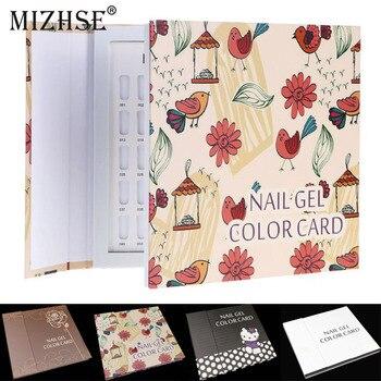 MIZHSE Gel 120 Cores de Unhas Cor de Exibição Livro Cartão de Exibição Da Arte do Prego Ferramentas Manicure Profissional Full Color Chart Prática Board