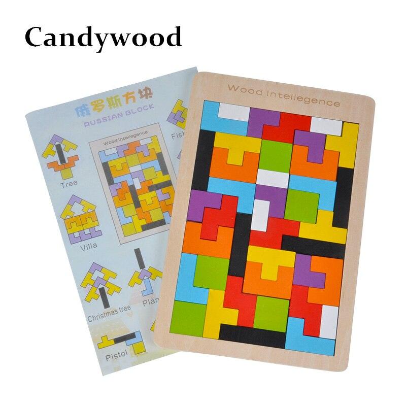 Kinder Spielzeug Holz Tangram/Jigsaw Vorstands Puzzle Gehirn Teaser Puzzle Tetris Spiel Pädagogisches Baby Kind Kinder Spielzeug