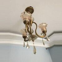 Modern Gold Crystal Chandelier Copper European Led Ceiling Lamp Crystal American Bedroom Romantic Master Chandelier Lighting