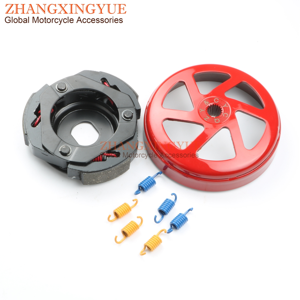 Performance clutch bell & clutch for SIMSON Sula 125cc Thunder Bird 1999-2000 GY6 125 150 152QMI 157QMJ Scooter 4T performance oil radiator adapter fittings for 4 stroke chinese scooter gy6 50 80 100 125 150 139qmb 152qmi 157qmj