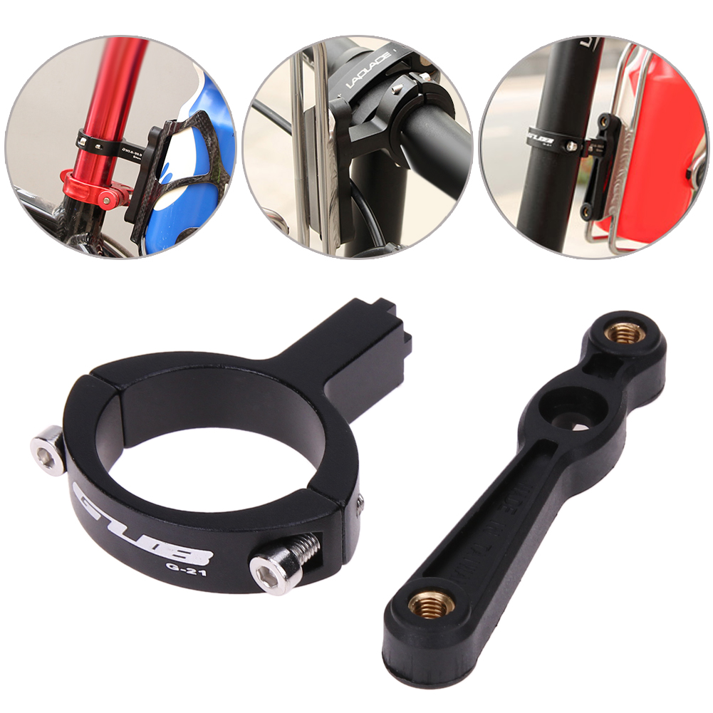 Adjustable Rotation G-21 Aluminum Alloy Bicycle Handlebar Bottle Cage Adapter Mountain Bike Cycling Bottle Holder Wholesale