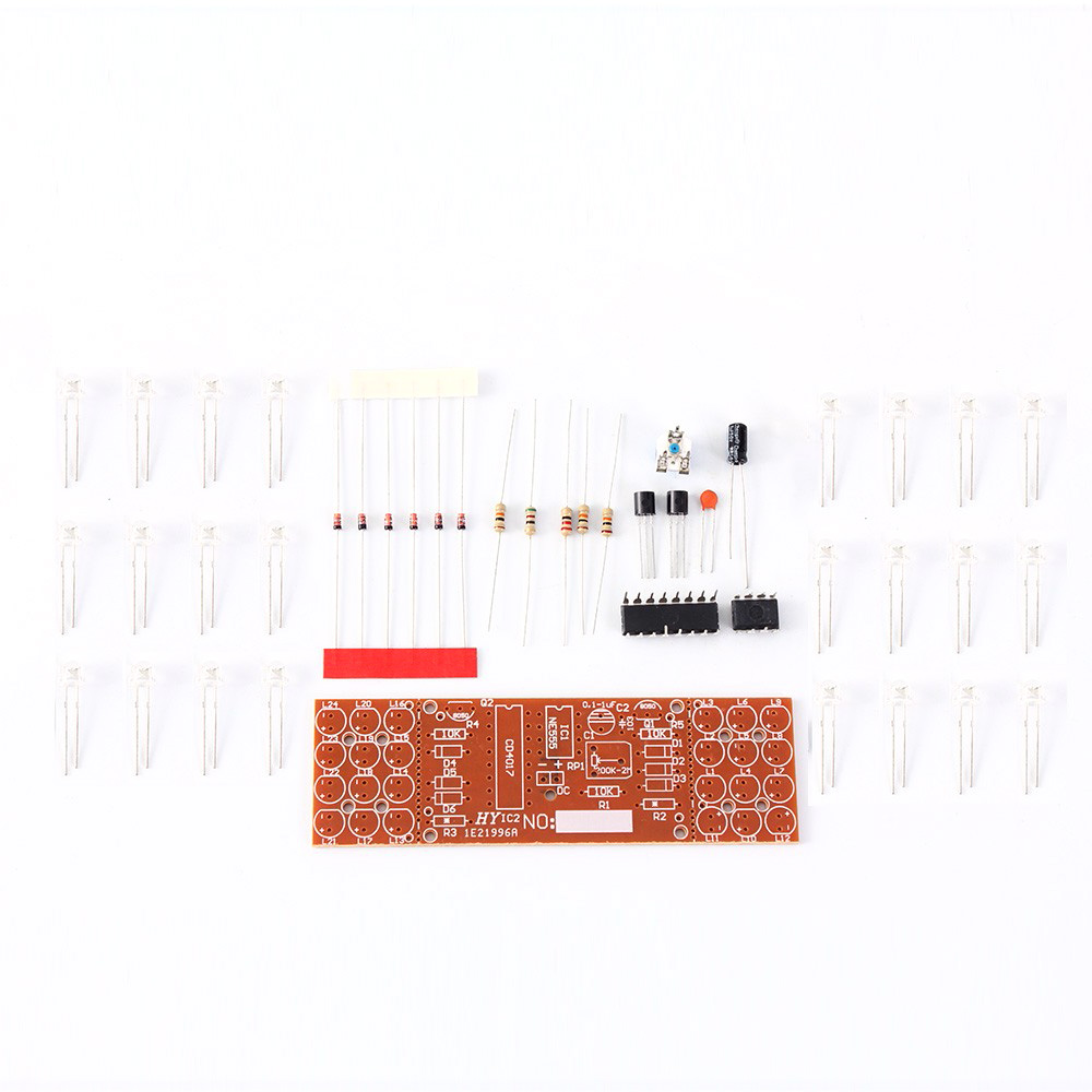 Electronic DIY Kit Red Blue Double Color Flashing Lights  Strobe NE555 + CD4017 Electronic Practice Learning Kits Suite 2